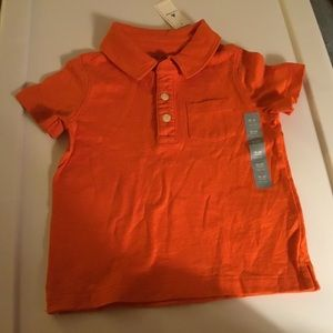Gap Boys Orange Short Sleeve Polo. Size 18-24m